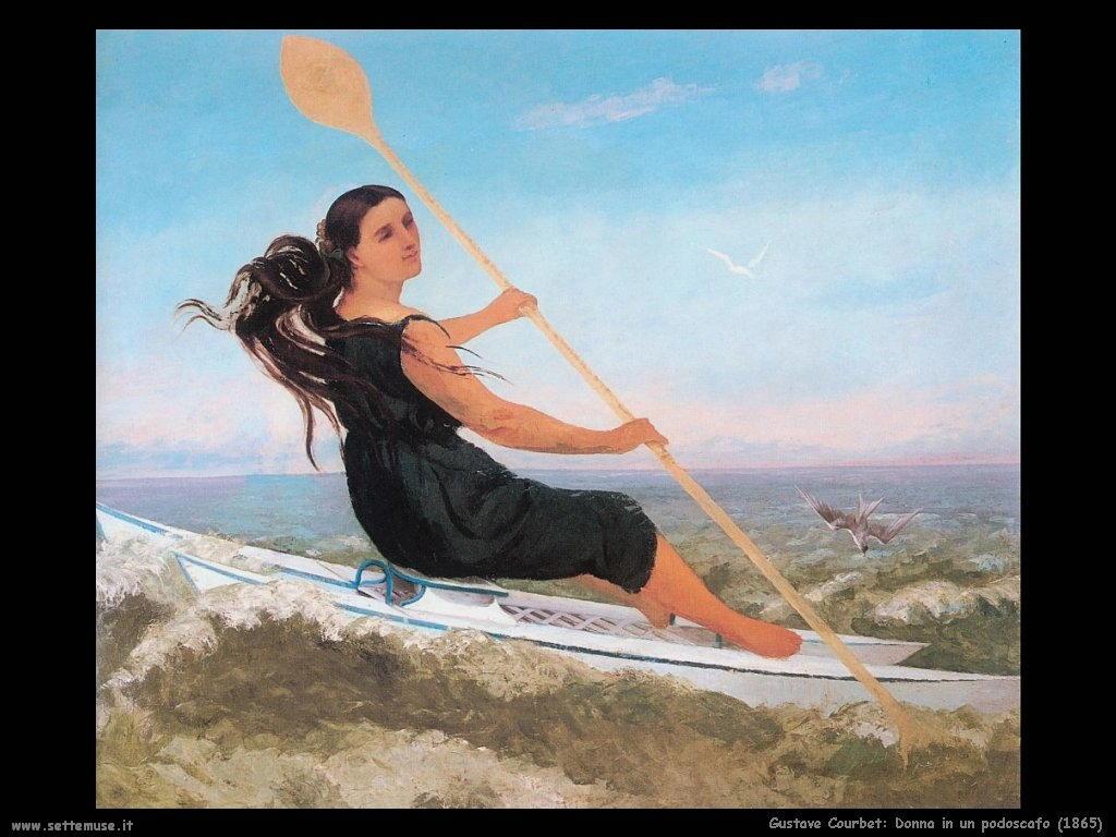 Donna in un podoscafo (1865)