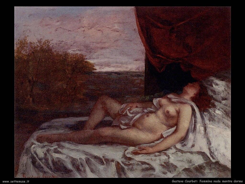 Femmina nuda mentre dorme