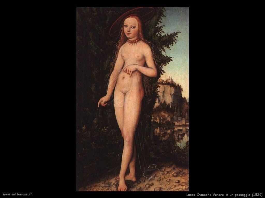 Lucas Cranach_venere_in_paesaggio_1529
