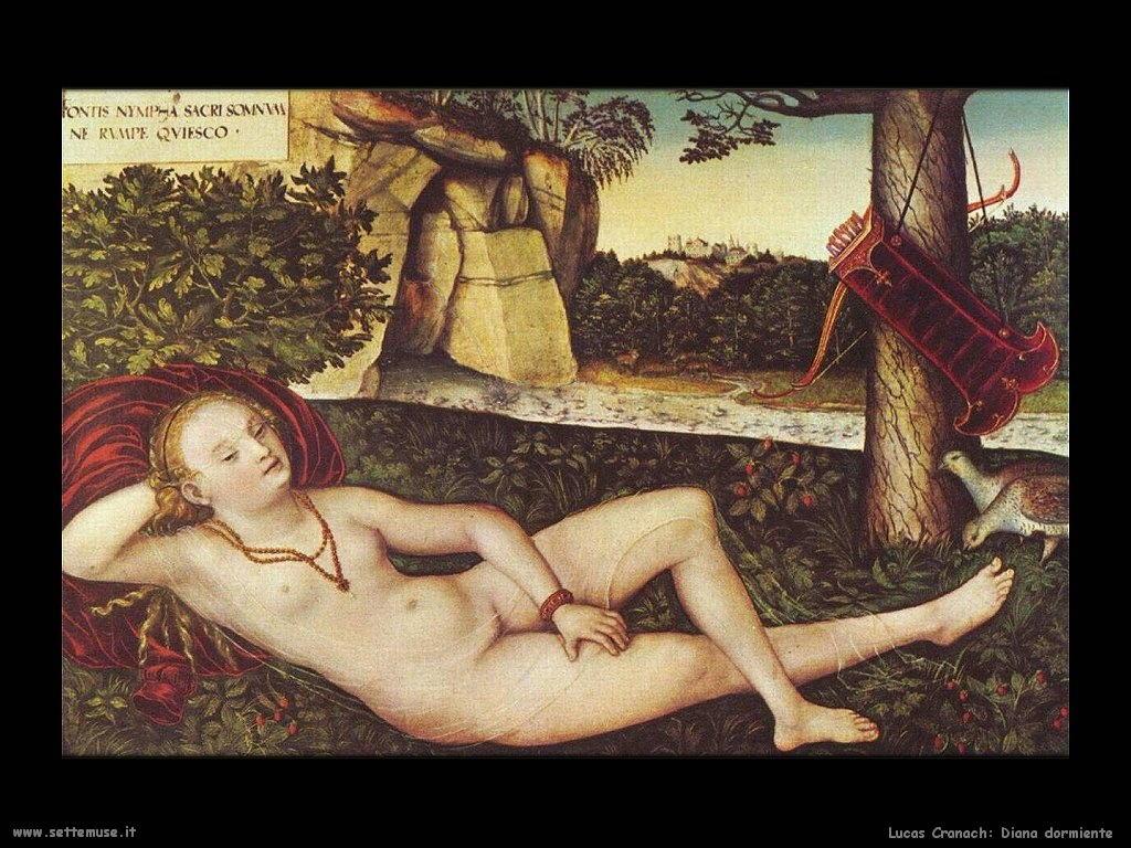 Lucas Cranach_diana_dormiente