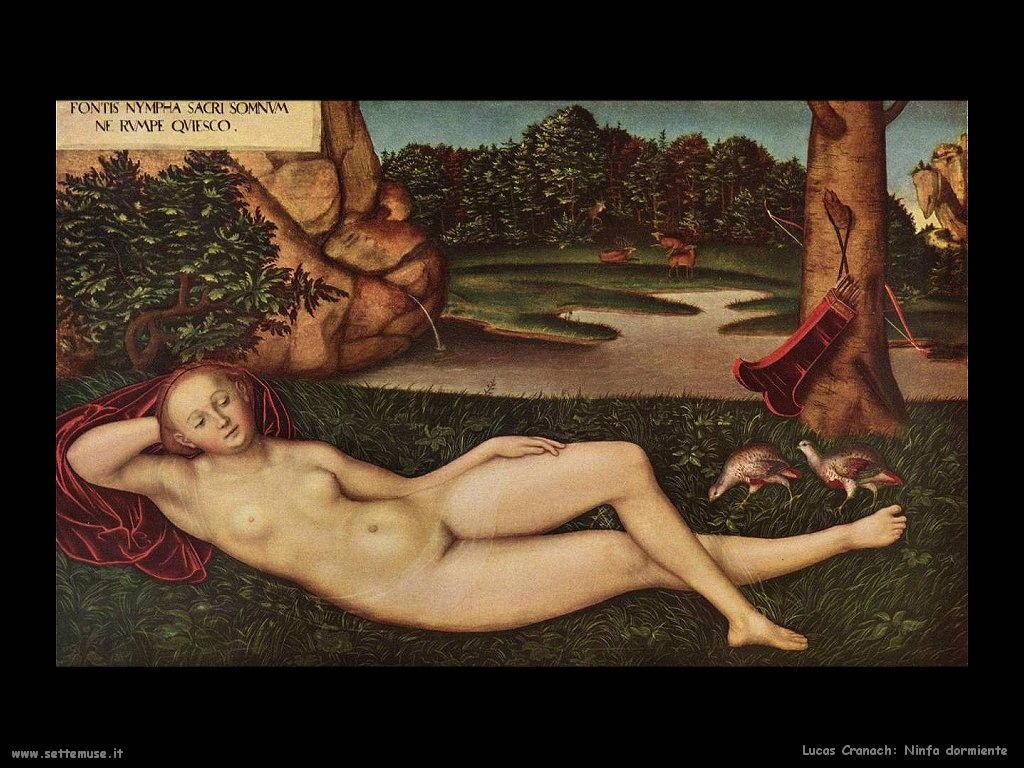 Lucas Cranach_ninfa_dormiente