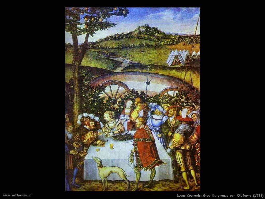 ucas_cranach_giuditta_pranza_con_oloferne_1531