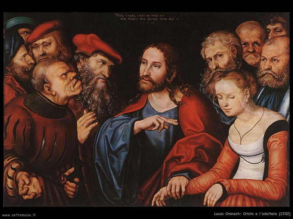lucas_cranach_cristo_e_l_adultera_1532