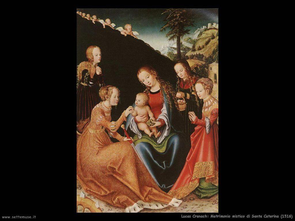 lucas_cranach_matrimonio_mistico_santa_caterina_1516