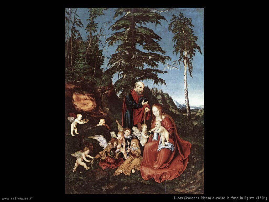lucas_cranach__riposo_durante_fuga_in_egitto_1504