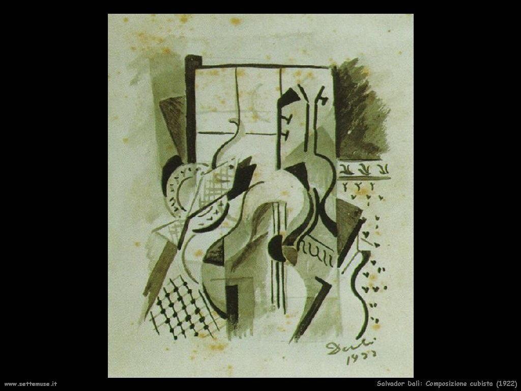 Salvador Dalì_composizione_cubista
