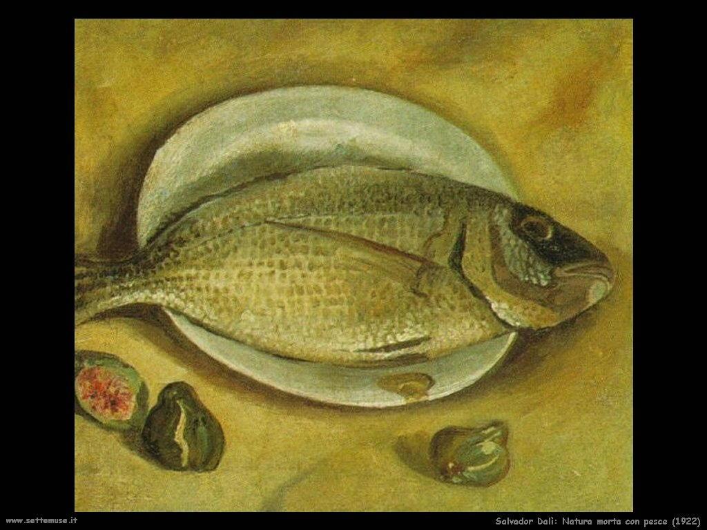 Salvador Dalì_natura_morta_pesce