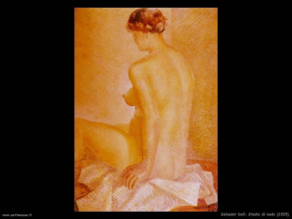 Salvador Dalì_studio_di_nudo