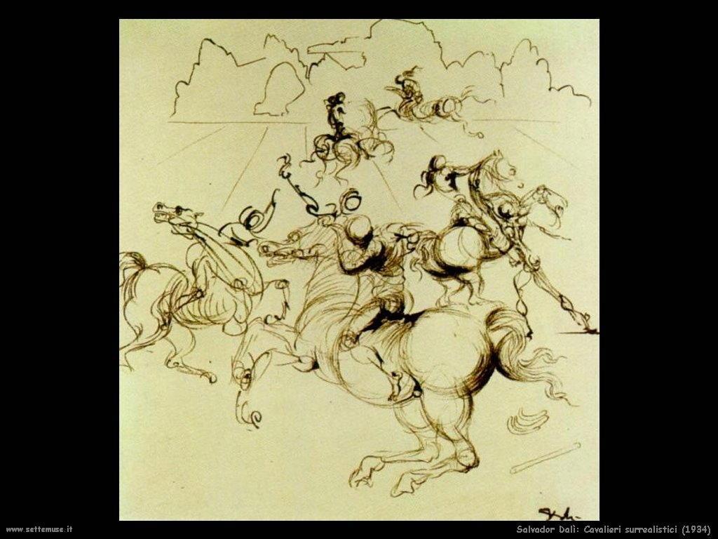 Salvador Dalì_cavalieri_surrealistici