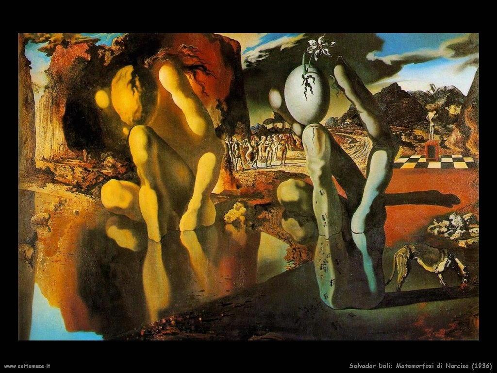 Dali Metamorfosi di Narciso 1936