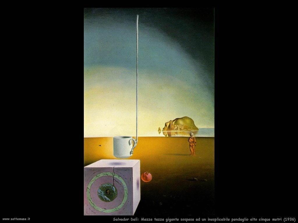 Salvador Dalì_mezza_tazza_gigante_sospesa