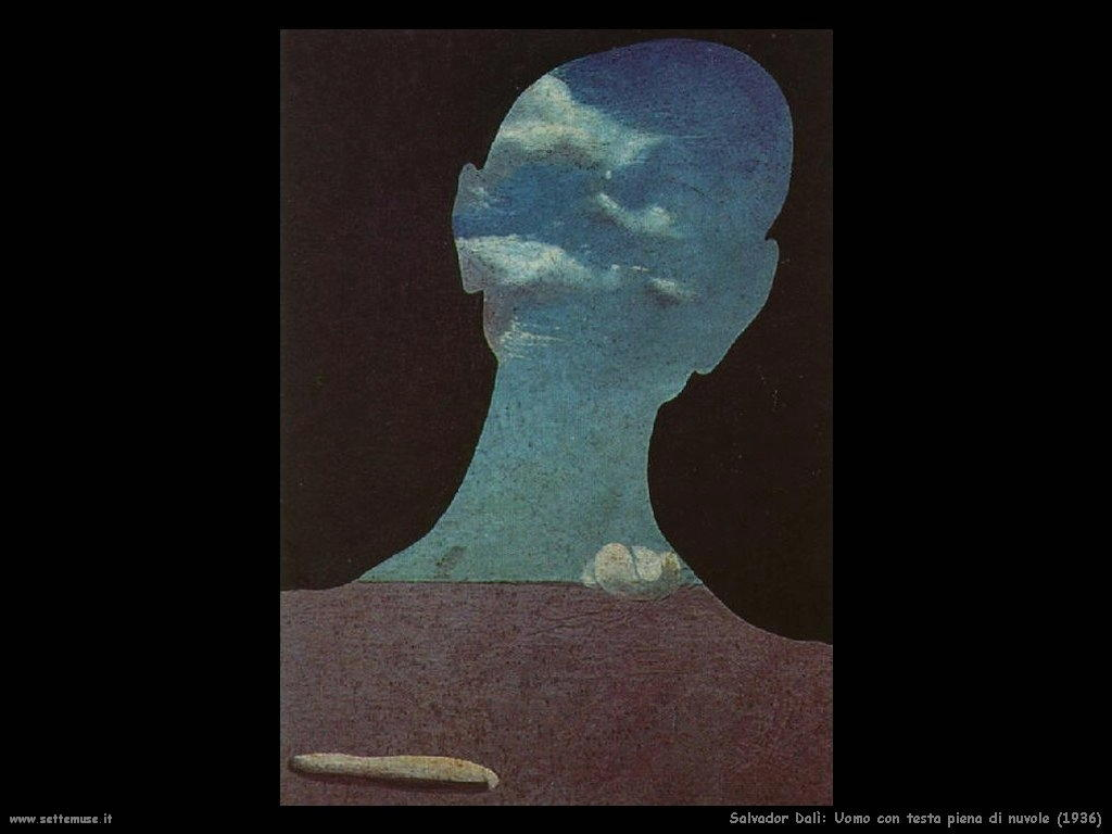 Salvador Dalì uomo_con_la_testa_piena_di_nuvole