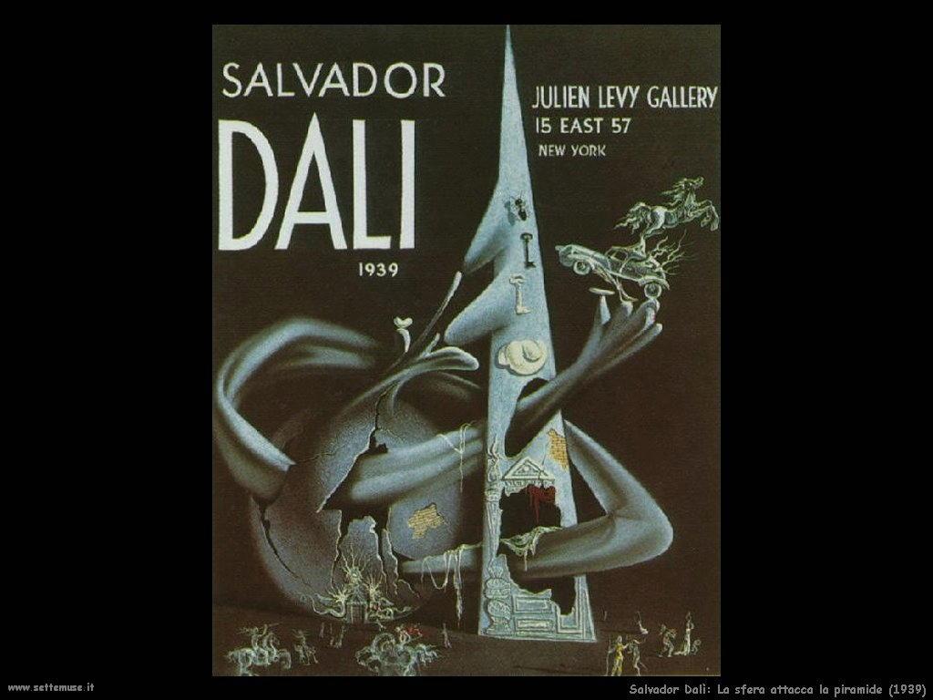 Salvador Dalì_la_sfera_attacca_la_piramide