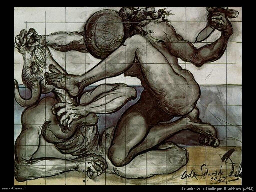 Salvador Dalì_studio_per_il_labirinto