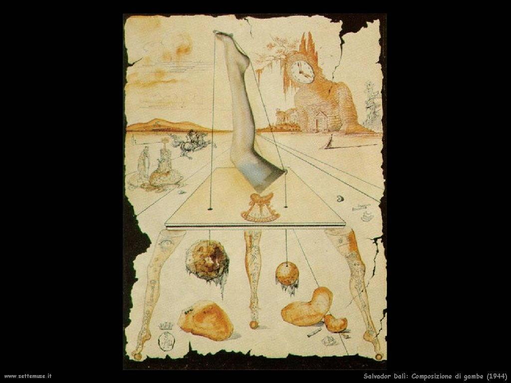 Salvador Dalì_composizione_di_gambe