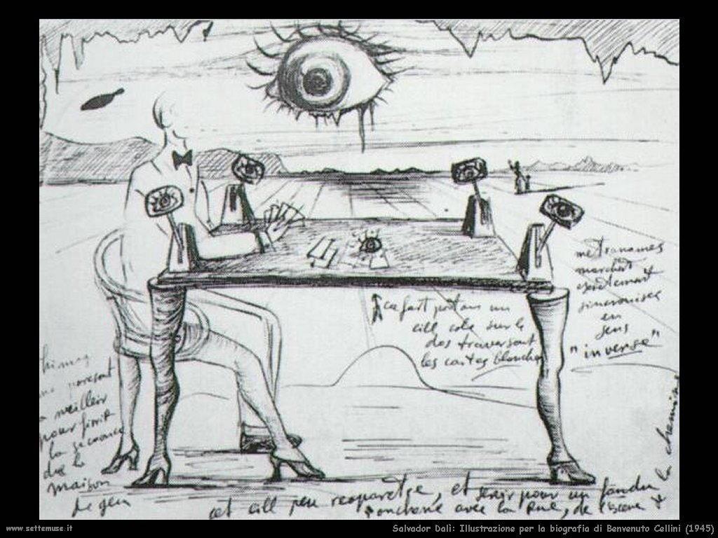 Salvador Dalì_illustrazione_per_biografia_benvenuto_cellini