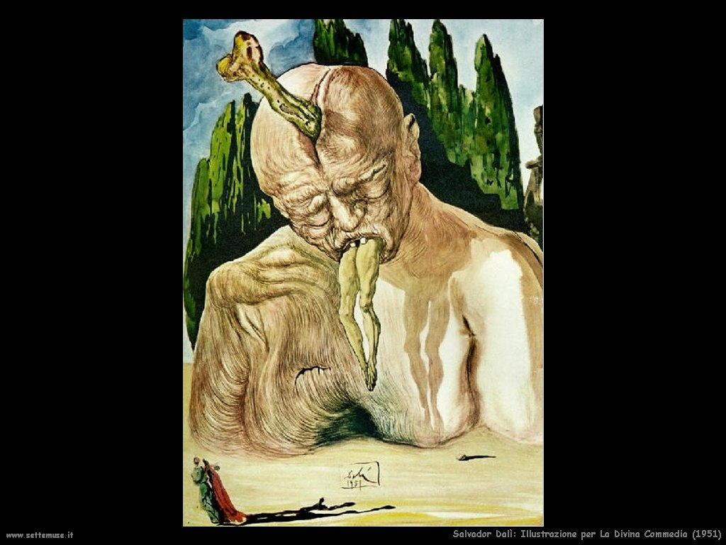 Salvador Dalì illustrazione_per_la_divina_commedia_lucifero