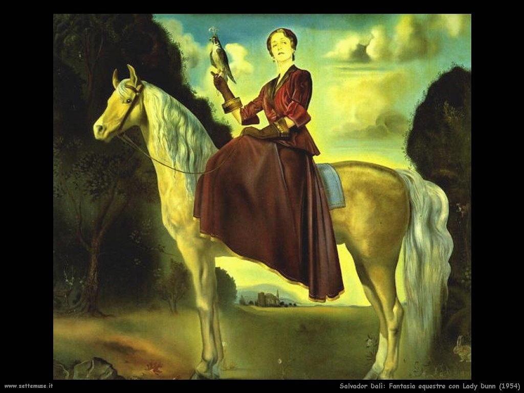 Salvador Dalì_fantasia_equestre_lady_dunn