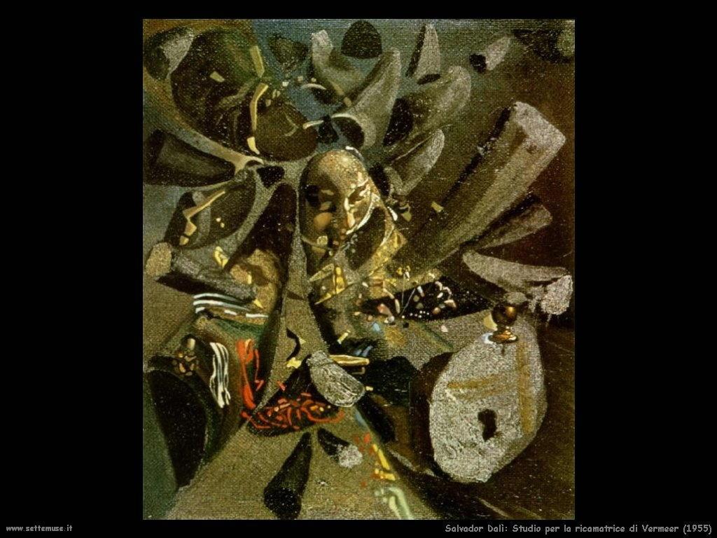 Salvador Dalì_studio_per_ricamatrice_di_vermeer