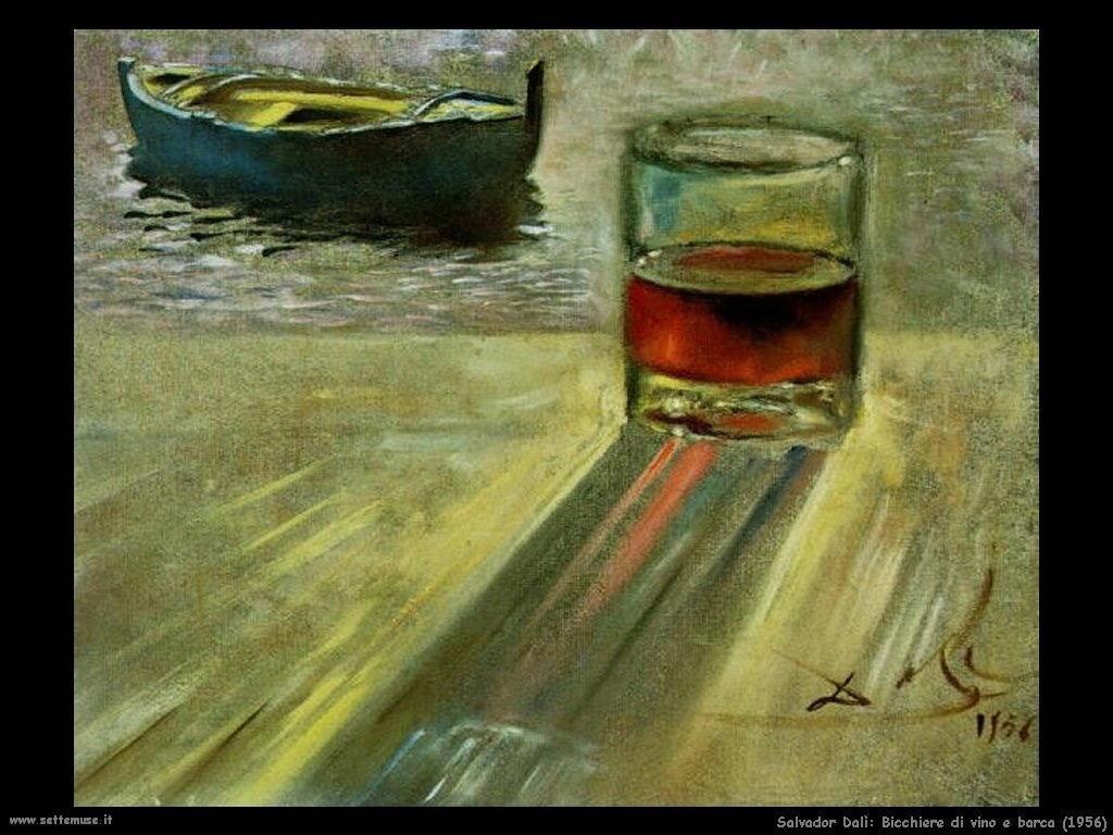 Salvador Dalì bicchiere_di_vino_e_barca