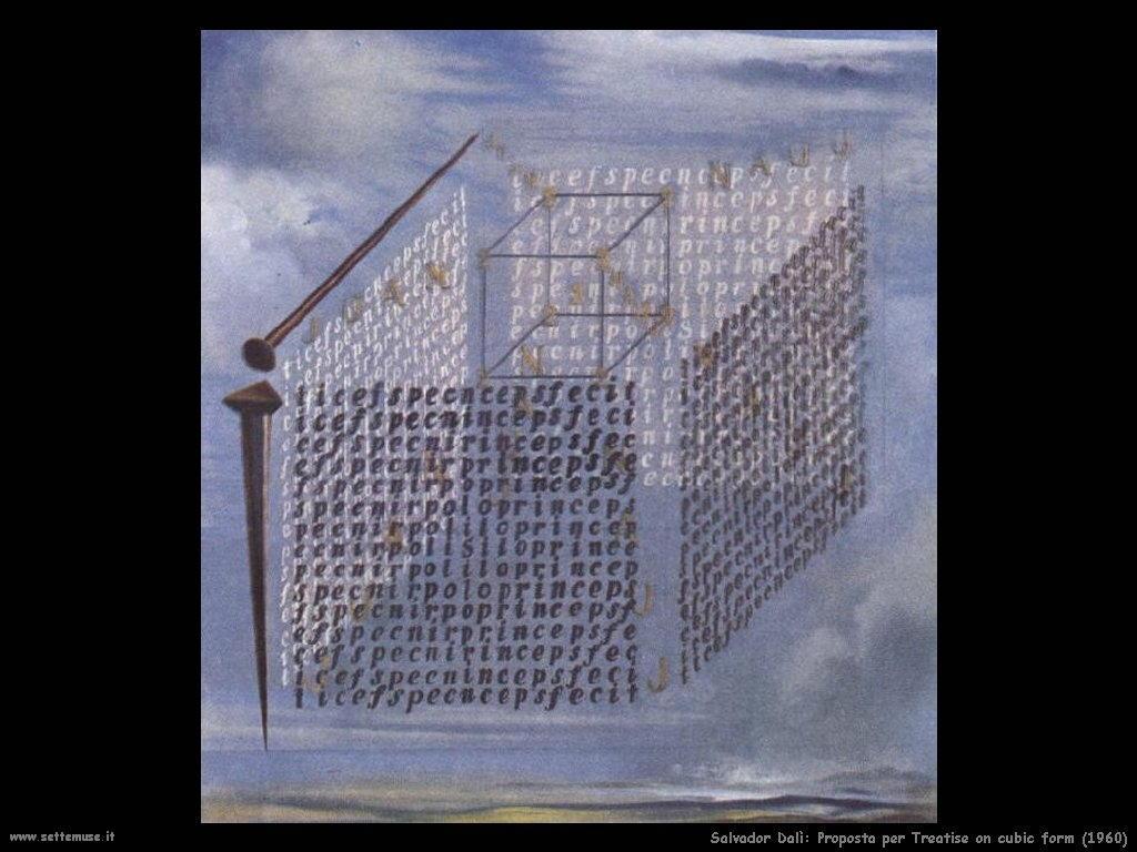 Salvador Dalì _proposta_per_treatise_on_cubic_form