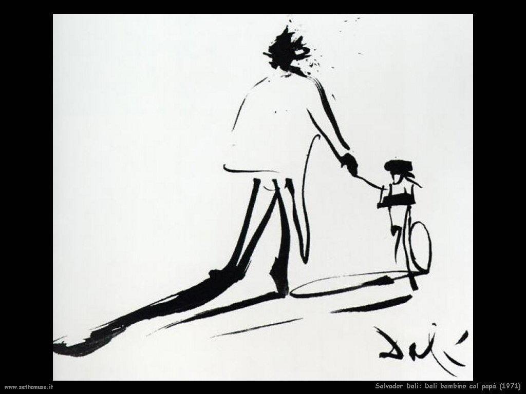 Salvador Dalì_dalì_bambino_col_papà