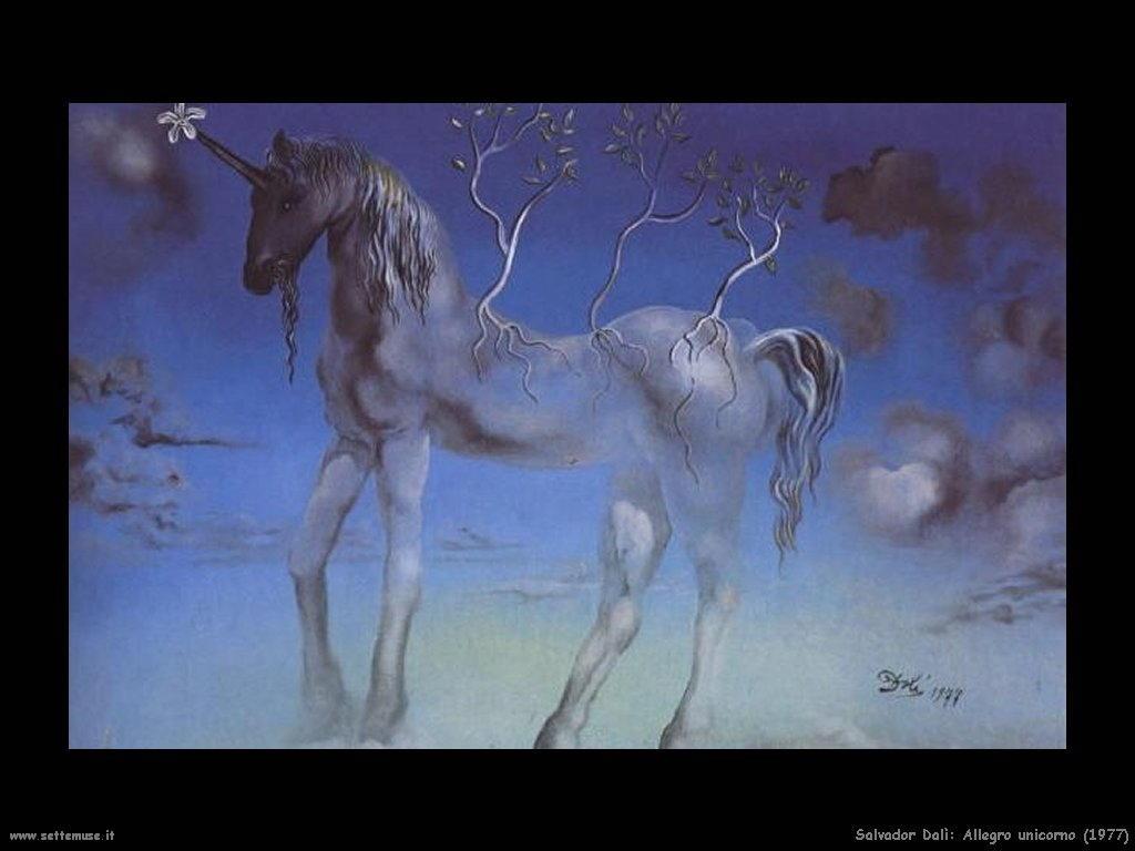 Salvador Dalì_allegro_unicorno