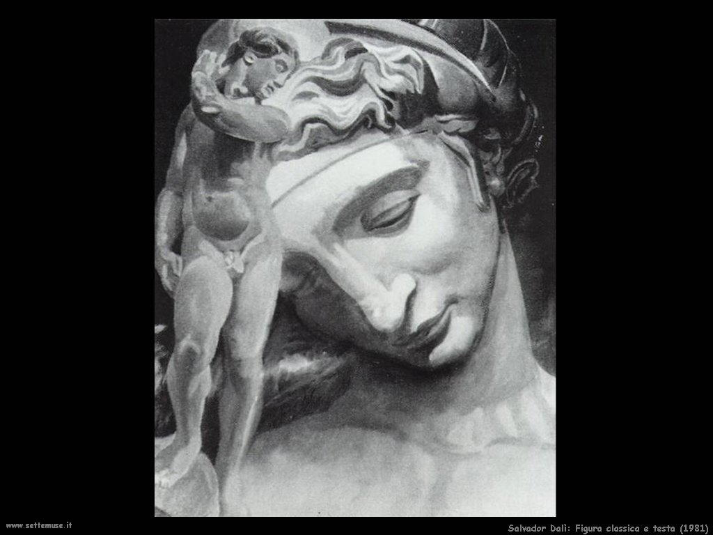 Salvador Dalì_figura_classica_e_testa