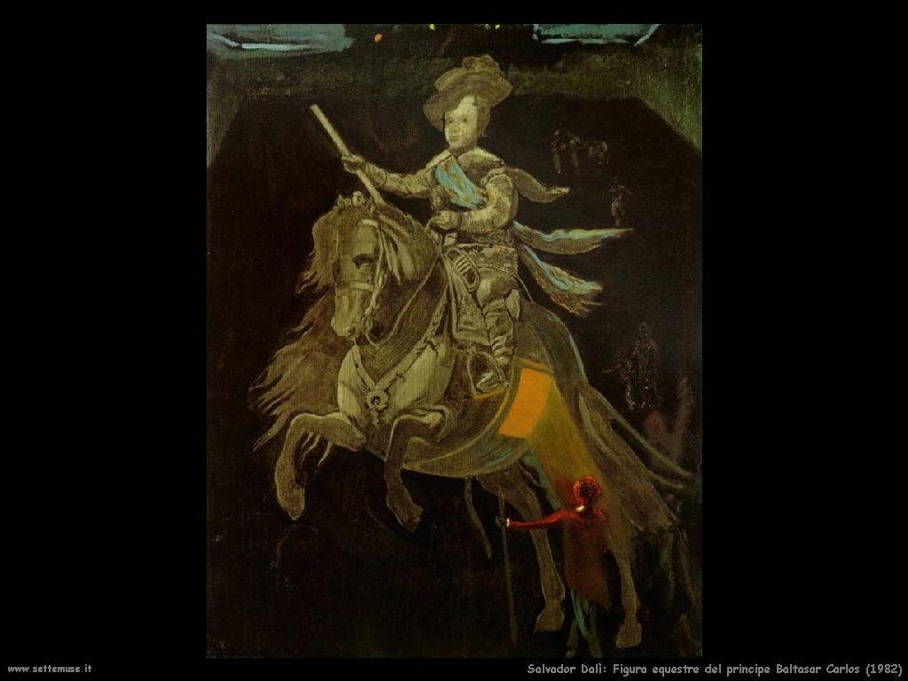 Salvador Dalì_figura_equestre_principe_baltasar_carlos