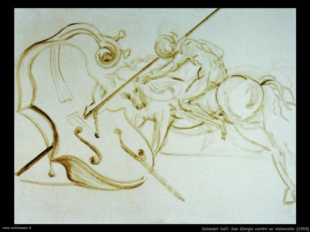 Salvador Dalì _san_giorgio_contro_un_violoncello