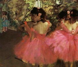 Dipinto di Edgar Degas  Ballerine rosa
