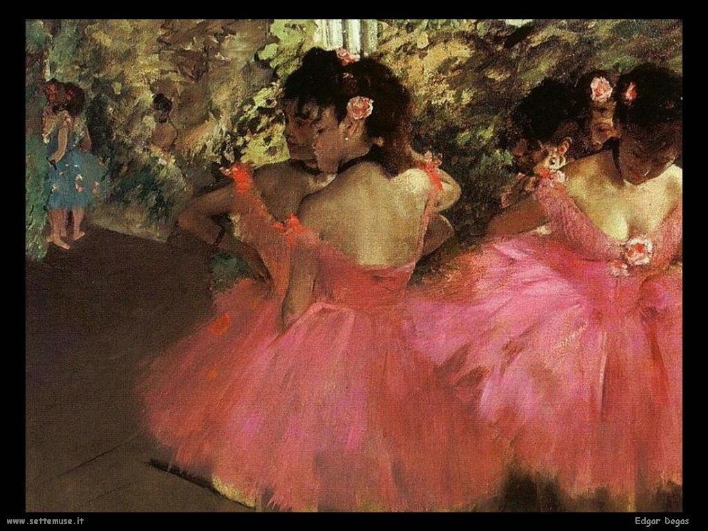 Edgar Degas Balleirne Rosse