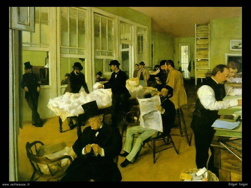 Edgar Degas _new_orleans_Uffico cotone_1873