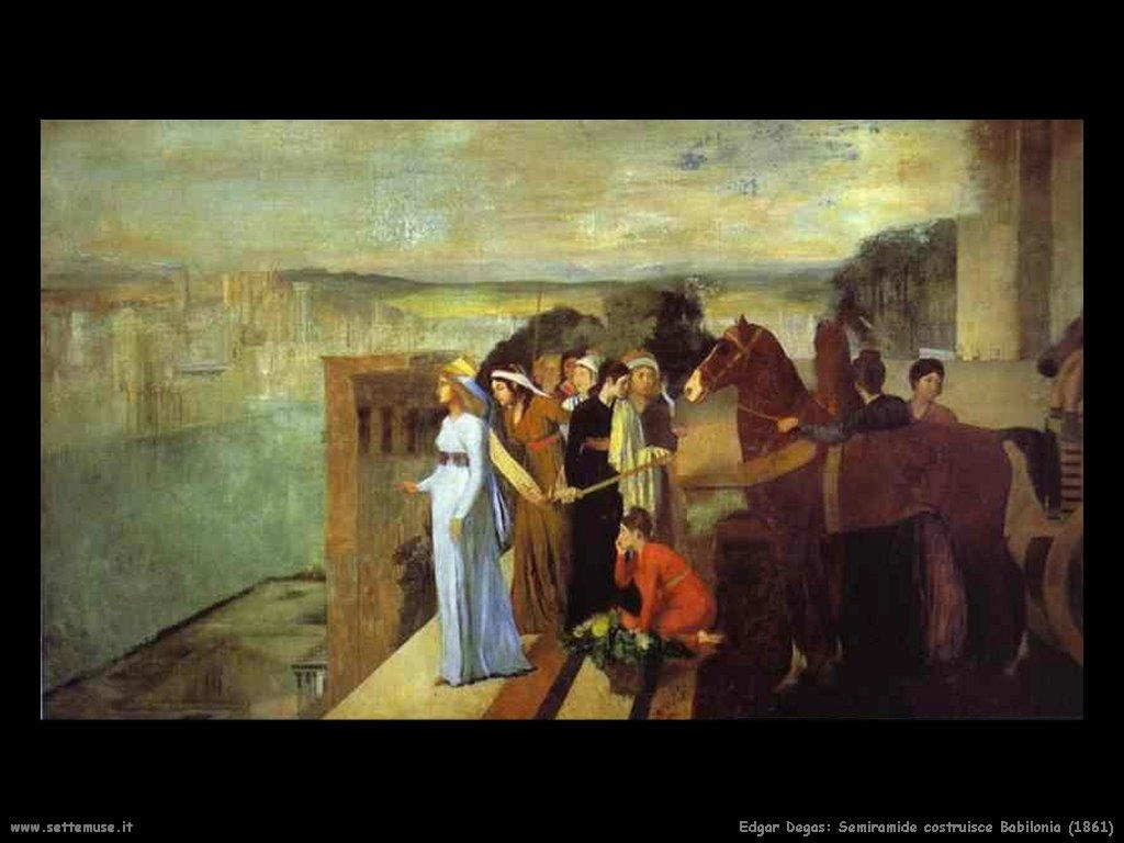 Edgar Degas _semiramide_costruisce_babilonia_1861