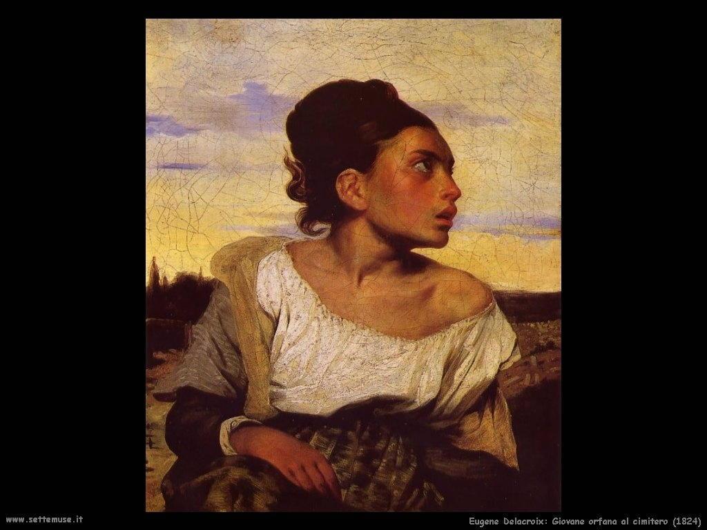 Eugène Delacroix orfana al cimitero 1824