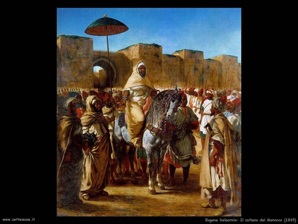 Eugène Delacroix_sultano_del_marocco_1845