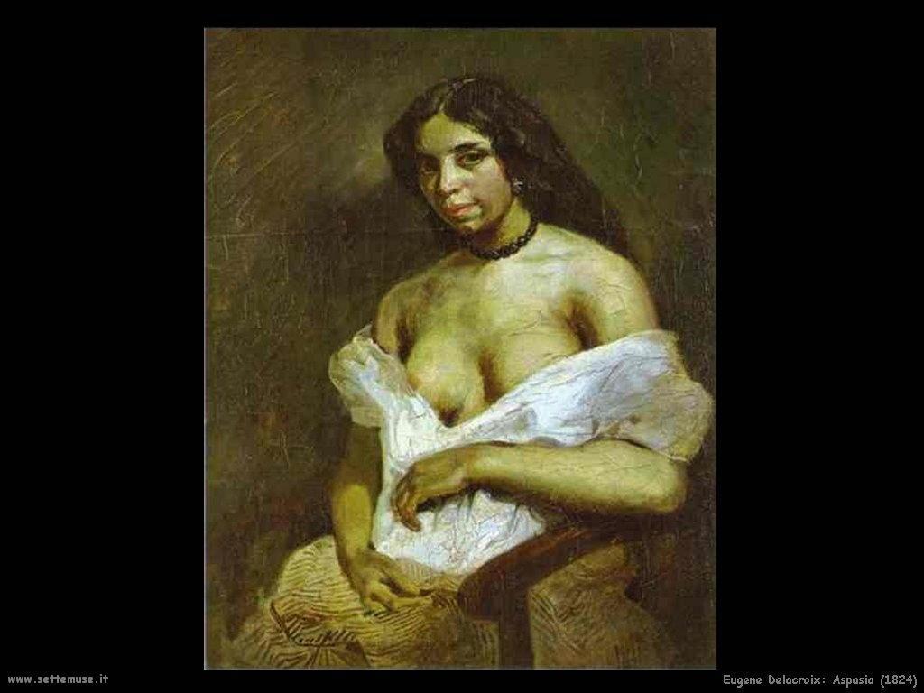 Eugène Delacroix_aspasia_1824