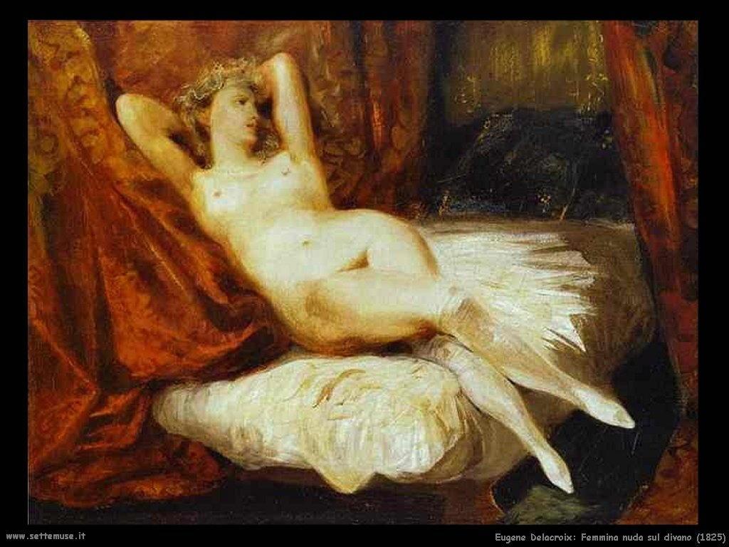 Eugène Delacroix_femmina_nuda_su_divano_1825
