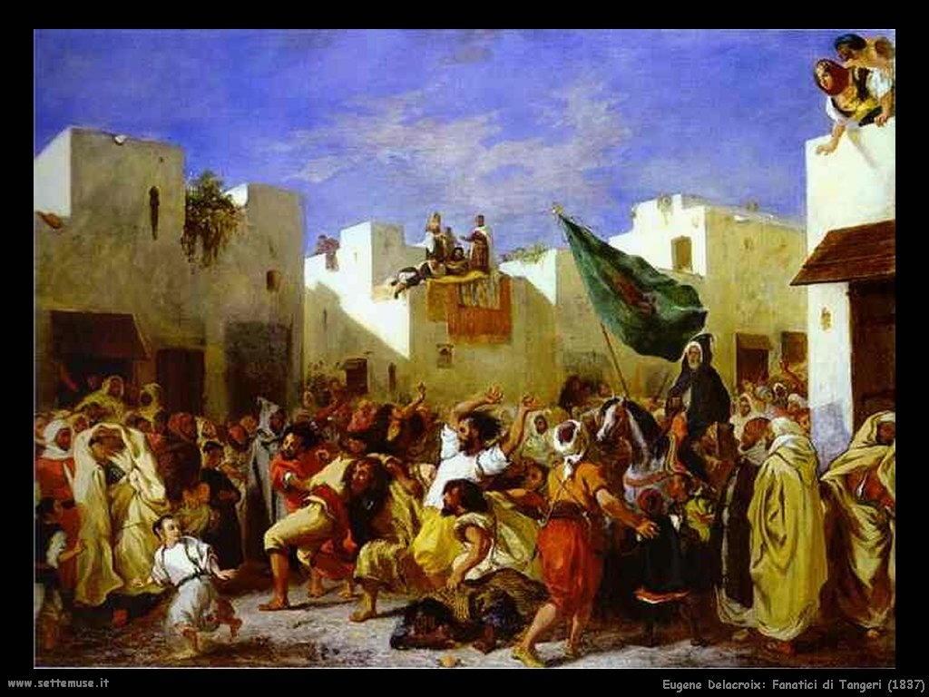 Eugène Delacroix_fanatici_di_tangeri_1837