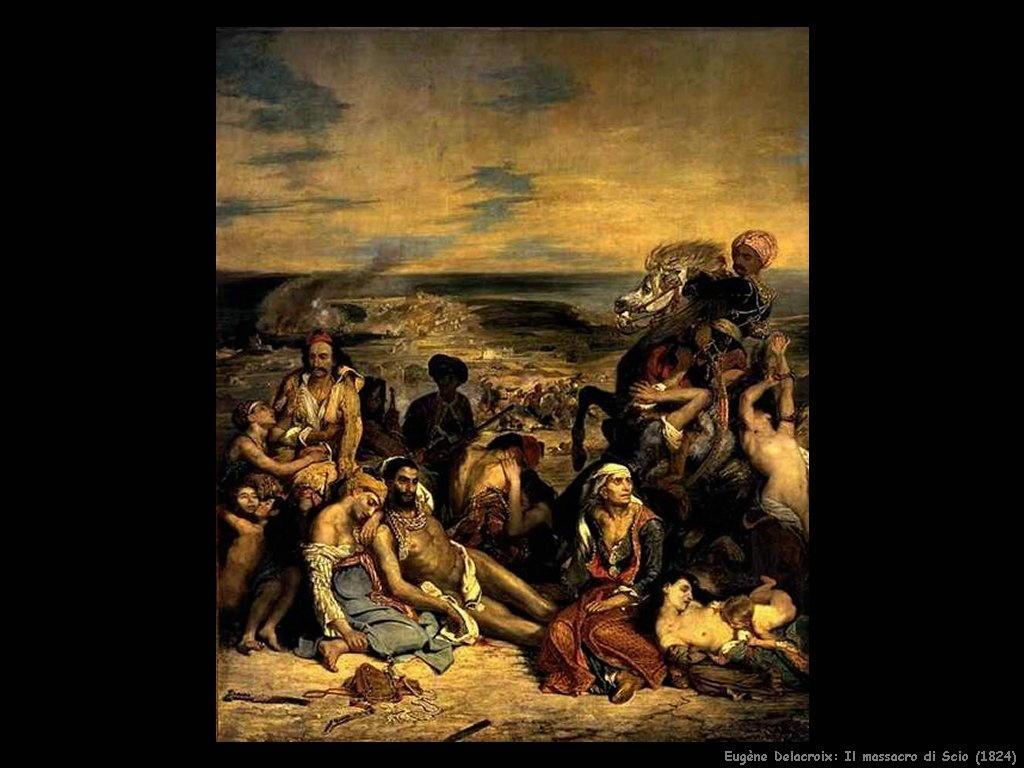 Eugène Delacroix massacro di scio 1824