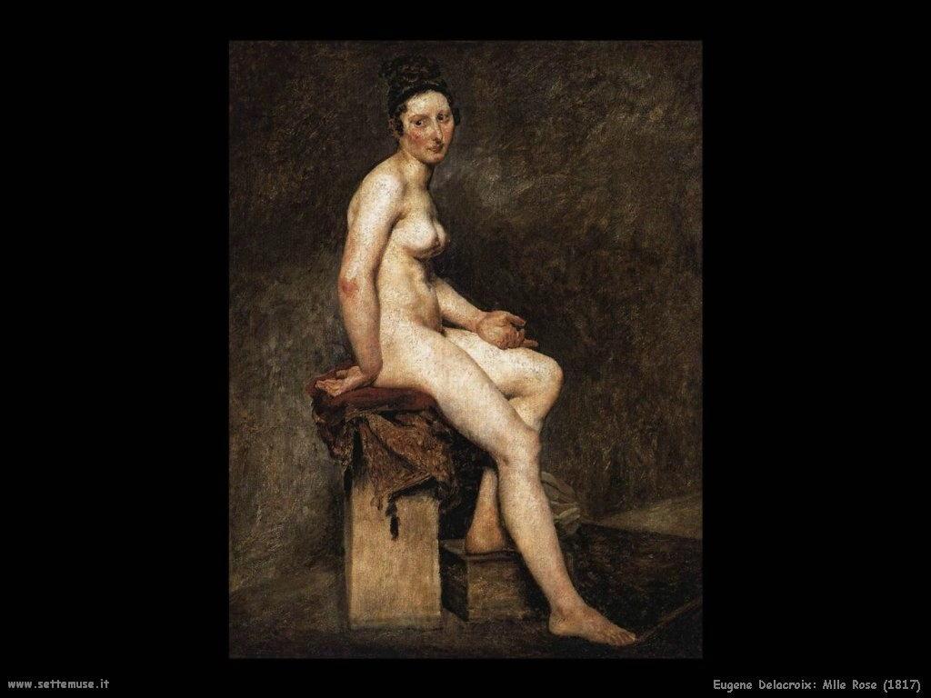 Eugène Delacroix_mlle_rose_1817
