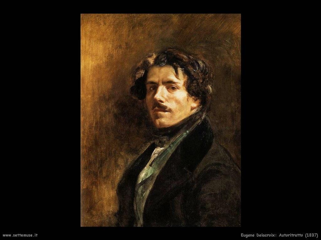 Eugène Delacroix autoritratto 1837