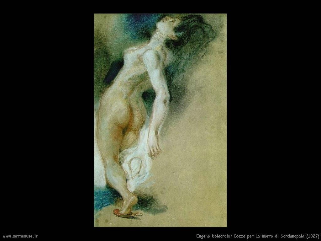Eugène Delacroix_bozza_morte_di_sardanapalo_1827