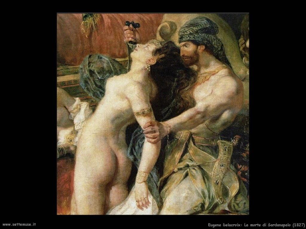 Eugène Delacroix_morte_di_sardanapalo_1827