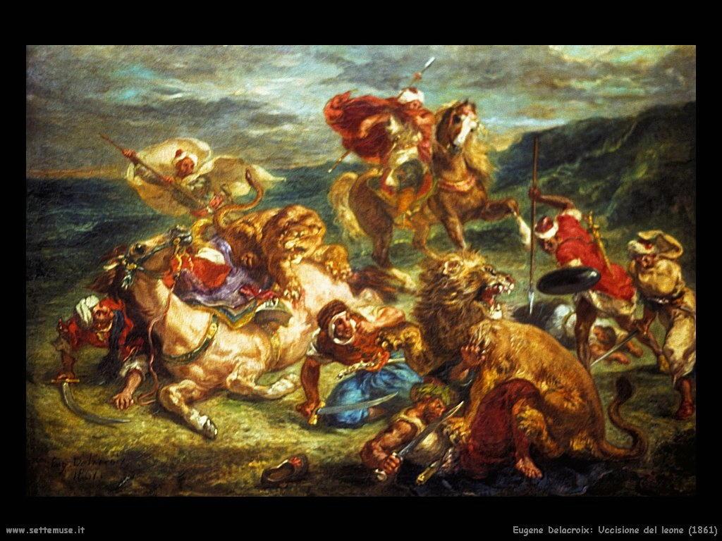 Eugène Delacroix_uccisione_del_leone_1861