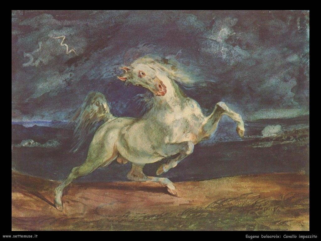Eugène Delacroix_cavallo_impazzito