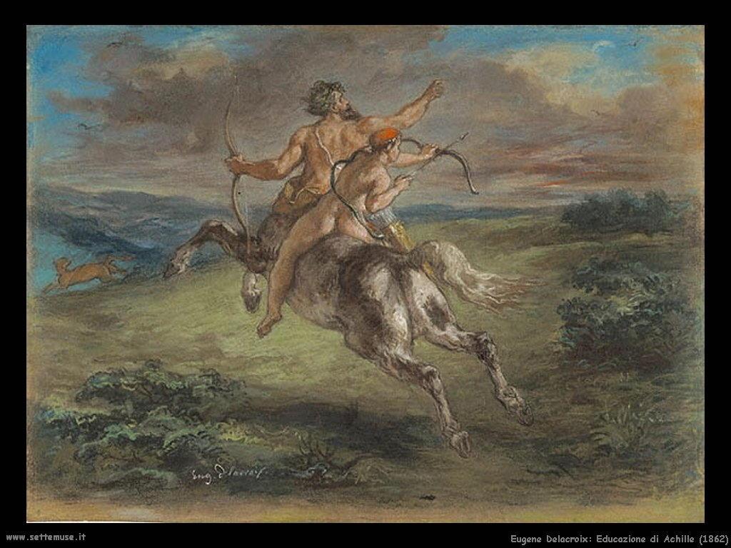 Eugène Delacroix_educazione_di_achille_1862