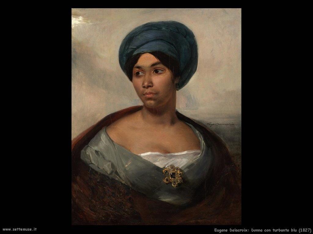 Eugène Delacroix_donna_con_turbante_blu_1827