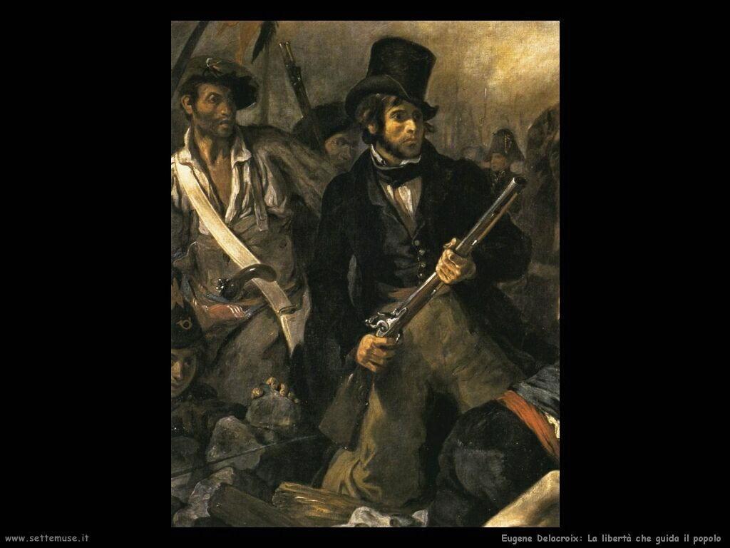 Eugène Delacroix libertà guida il popolo