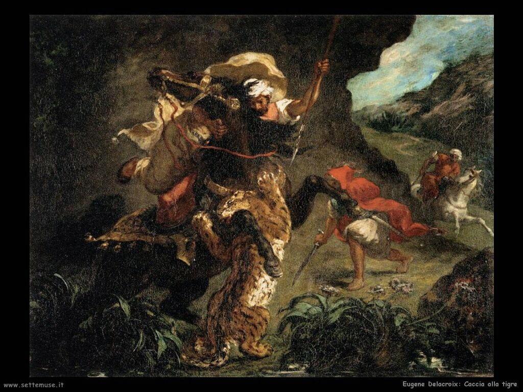 Eugène Delacroix Caccia alla tigre